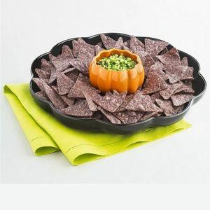 Martha Stewart Collec 2pc Pumpkin Chip & Dip Platt